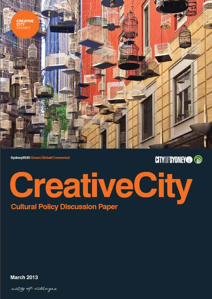 Cover Page: Creative City - Sydney City Council's Draft Cultural Policy and Action Plan