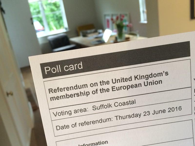 UK voting card