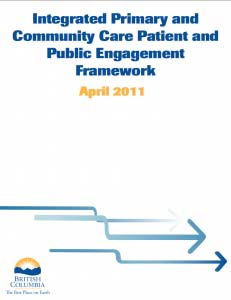 Integrated Primary and Community Care Patient and Public Engagement Framework