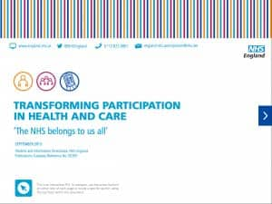Transforming Participation in Health and Care