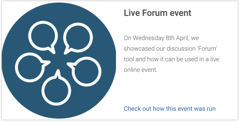 Forum Virtual Event