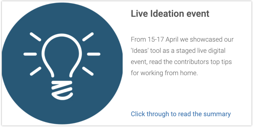 Ideas Virtual Event