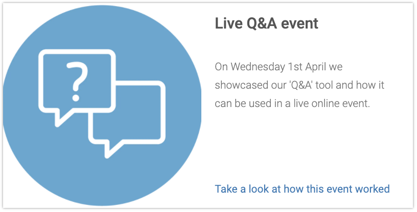 Q&A Virtual Event