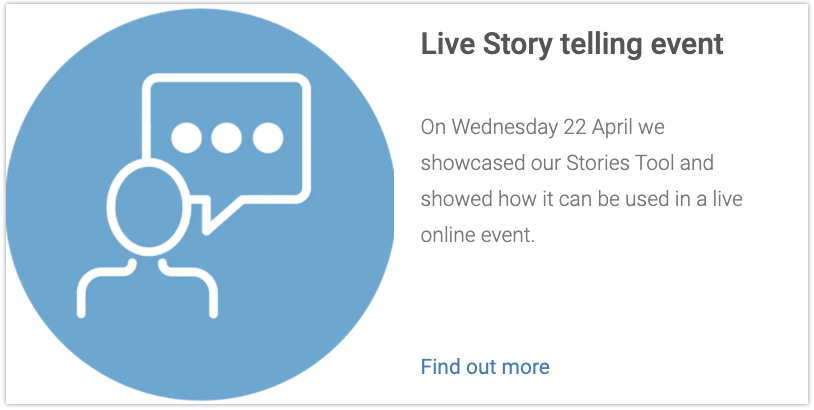Stories Virtual Event