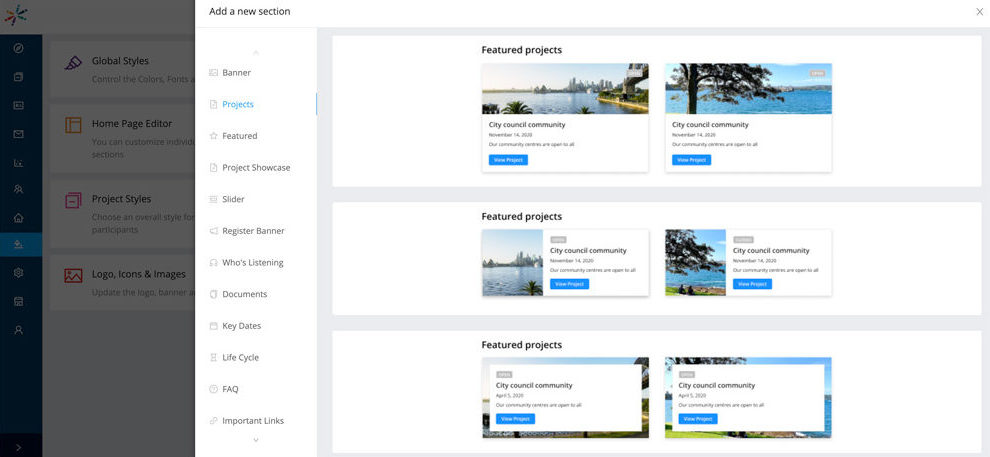 A Well Designed Site: Different Blocks in Homepage Editor