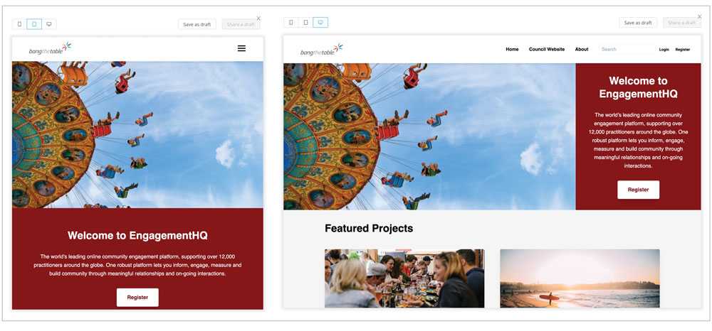 View your web page in different formats