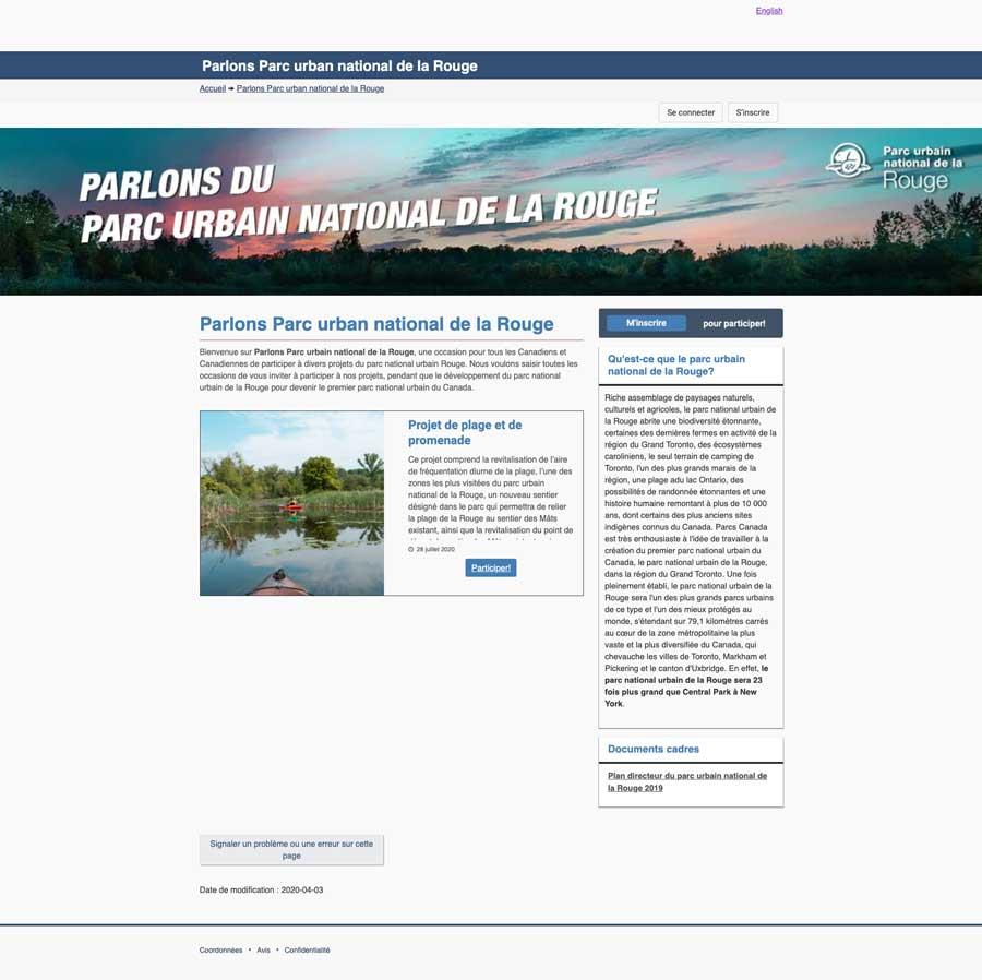 Parlons Parc Urban National De La Rouge