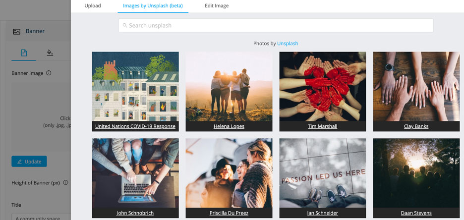 unsplash feature EngagementHQ