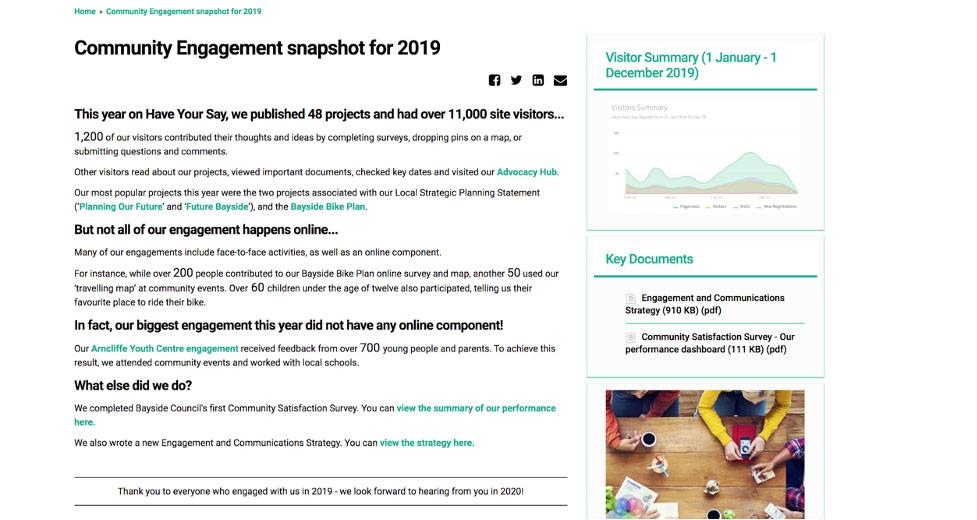 online engagement site